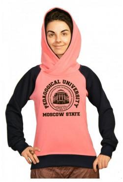 Толстовка двуцветная мужская с капюшоном МПГУ Московский Педагогический Государственный Университет