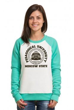 Свитшот двуцветный женский МПГУ Московский Педагогический Государственный Университет