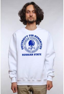 Свитшот плотный РГГУ Российский государственный гуманитарный университет (25 цветов на выбор)
