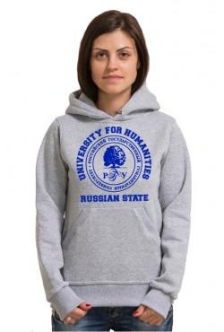 Толстовка с капюшоном РГГУ Российский государственный гуманитарный университет (25 цветов на выбор)