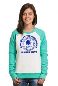 Свитшот двуцветный женский РГГУ Российский государственный гуманитарный университет
