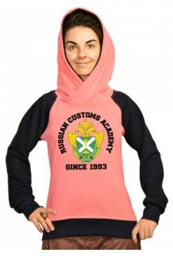 Толстовка двуцветная мужская с капюшоном РТА Российская таможенная академия