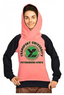 Толстовка двуцветная мужская с капюшоном ПГУПС Государственный университет путей сообщения