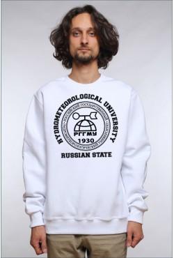 Свитшот плотный РГГМУ Российский государственный гидрометеорологический университет (25 цветов на выбор)