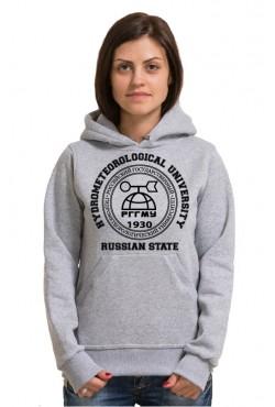 Толстовка с капюшоном РГГМУ Российский государственный гидрометеорологический университет (25 цветов на выбор)