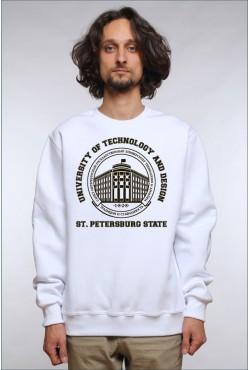 Свитшот плотный СПБГУТИД Государственный университет технологии и дизайна (25 цветов на выбор)