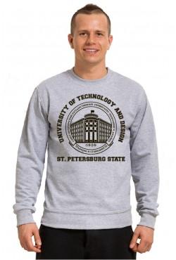 Свитшот тонкий 250 гр СПБГУТИД Государственный университет технологии и дизайна (25 цветов на выбор)