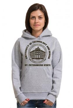 Толстовка с капюшоном СПБГУТИД Государственный университет технологии и дизайна (25 цветов на выбор)