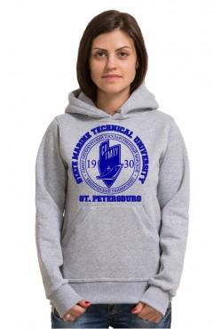 Толстовка с капюшоном СПГМТУ Санкт-Петербургский государственный морской технический университет (25 цветов на выбор)