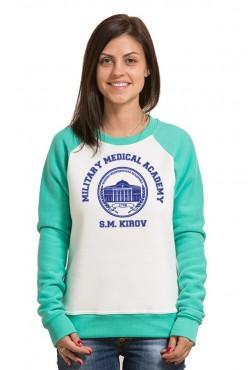 Свитшот двуцветный женский ВМА Военно Медицинская Академия