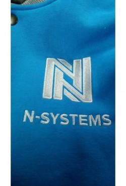 100 Колледж курток с вышивкой для N-Systems