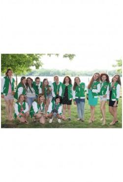 Зеленые бомберы оптом мужские и женские для молодежной команды 14 шт