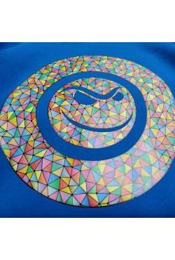 Две толстовки с цветным логотипом на заказ, бордовая и василек