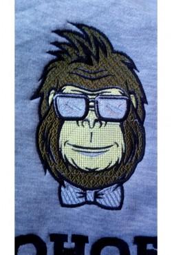 Вышивка Bonobo на свитшоте