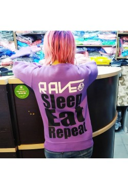 sveatshirt-rave-sleep-eat-repeat