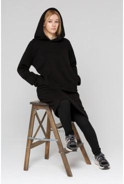 Dress Hoodie Black  - Платье-худи черное!