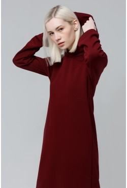 Dress Hoodie Bordo  - Платье-худи бордовое!