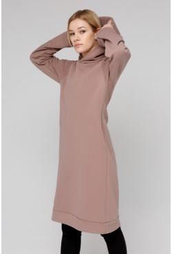 Dress Hoodie Pudra  - Платье-худи цвет пудры!