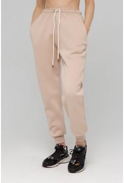Joggers Beige | Джоггеры Бежевые |  Теплые Джоггеры ( Женские спортивные брюки с начесом 320гр)