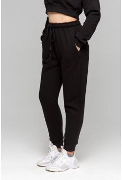 Joggers «Black» | Джоггеры Черные |  Теплые Джоггеры ( Женские спортивные брюки с начесом 320гр)