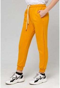 Joggers «Mustard» | Джоггеры горчица |  Демисезонные Джоггеры ( Женские спортивные брюки с начесом 320гр)