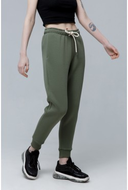 Joggers «Riffle Green» | Джоггеры Болотные |  Демисезонные Джоггеры ( Женские спортивные брюки с начесом 320гр)