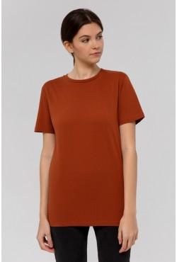 Бордовая футболка унисекс