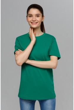 Зеленая футболка унисекс