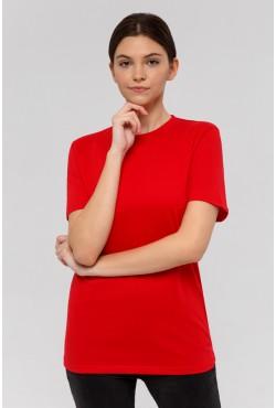 Женская красная футболка