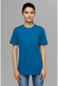 Бирюзовая футболка унисекс