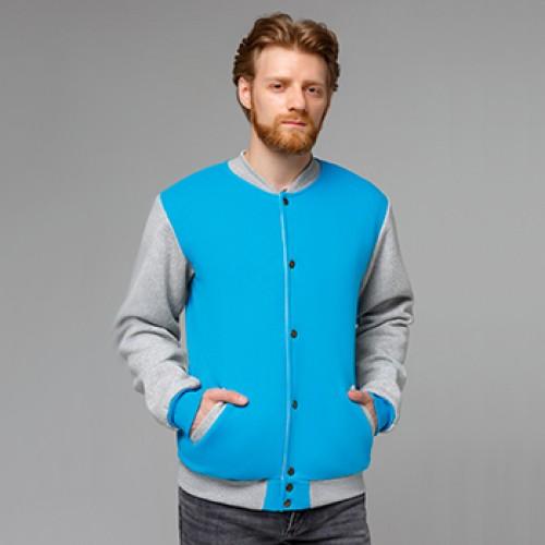 Колледж куртки толстовки «бомберы» на кнопках с подкладкой оптом от производителя в Москве и Санкт-Петербурге