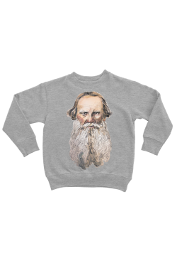 Оверсаз-худи, свитшот, футболка или сумка шоппер с портретом Льва Толстого