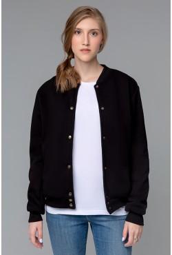 Колледж куртка женская полностью черная