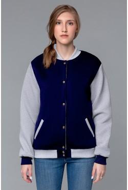 Колледж куртка женская темно-синяя