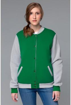 Колледж куртка зеленая женская