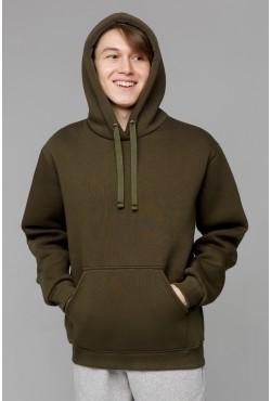 Premium Hoodie Khaki Unisex  Толстовка премиум качества хаки 360гр/м.кв