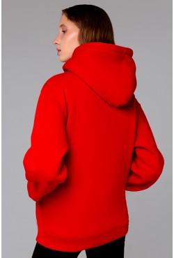 Premium Hoodie Red Unisex  Толстовка премиум качества красная 340гр/м.кв