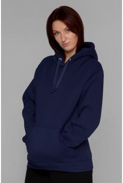 Premium Hoodie Rich Dark Blue Unisex  Толстовка премиум качества цвет Насыщенный Синий 340гр/м.кв