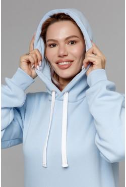 Premium Hoodie Sky-Blue Unisex  Толстовка премиум качества Безоблачное Небо 340гр/м.кв