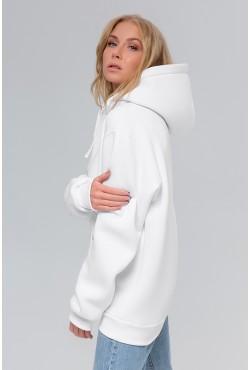 Premium Hoodie White Unisex  Толстовка премиум качества Белая 340гр/м.кв