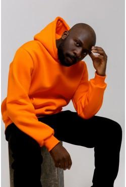 Premium Hoodie Orange Unisex  Толстовка премиум качества Оранжевая 340гр/м.кв