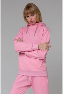 Женский розовый спортивный костюм на лето: Розовое худи и розовые джоггеры