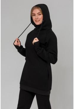 Cпортивный костюм теплый: Удлиненная худи + Джоггеры