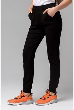 Джоггеры Легкие | Черные женские спортивные брюки (без начеса)
