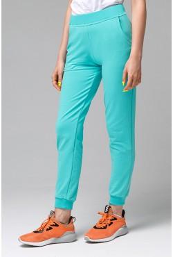 Джоггеры Легкие   Мятные женские спортивные брюки (без начеса)