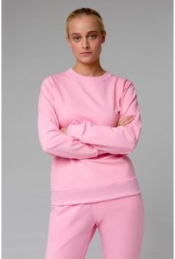 Женский розовый спортивный костюм лето 220гр/м.кв: Розовый свитшот и розовые брюки