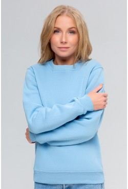 Женский голубой свитшот 320гр/м2 с начесом утепленный