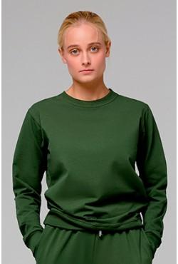 Женский темно-зеленый(хаки) свитшот летний 230гр/м2