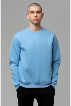 Мужской голубой свитшот 320гр/м2