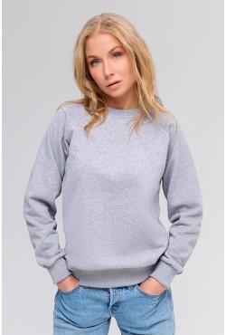 Женский свитшот-реглан серый 300гр/м2
